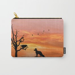 Fox and raven Carry-All Pouch