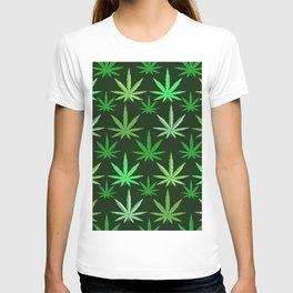 Marijuana Green Leaves Weed T-shirt