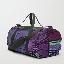 Purple stained glass Duffle Bag
