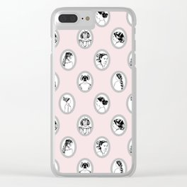 Space Queen Sketches Clear iPhone Case