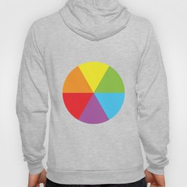 rainbow colour wheel Hoody