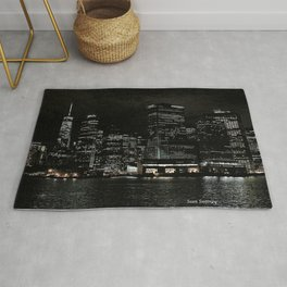 NYC Night Skyline 2015 Rug