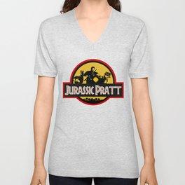 Jurassic Pratt Unisex V-Neck