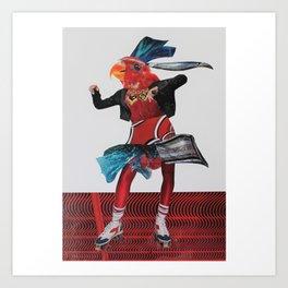 Rollerbird Art Print