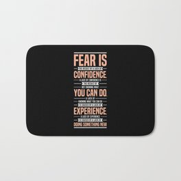 Lab No. 4 Fear Is The Result Dale Carnegie Inspirational Quotes Bath Mat