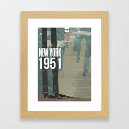 New York City, 1951 Framed Art Print