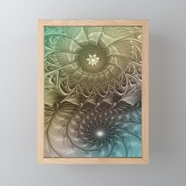 Togetherness, Fractal Art Abstract Framed Mini Art Print