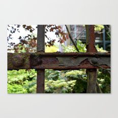 Rusty fence in Amsterdam Canvas Print