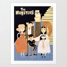 THE MUNSTERS Art Print
