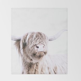 HIGHLAND CATTLE PORTRAIT Throw Blanket