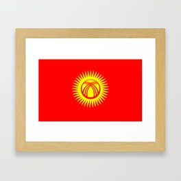 Kyrgyzstan country flag Framed Art Print