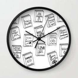 Bibliophilia (Titles) Wall Clock