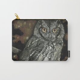 Night Vision // Owl Moon Forest Night Trees Wings Feather Screech Animal Bird Wild Wilderness Carry-All Pouch