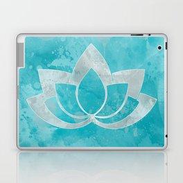 Lotus Flower on Aqua Laptop & iPad Skin