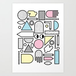 Shapes for Dayz Art Print