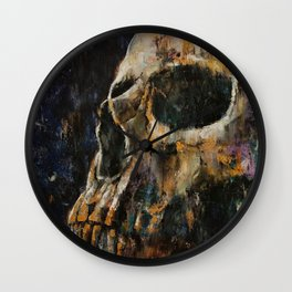 Gold Skull Wall Clock