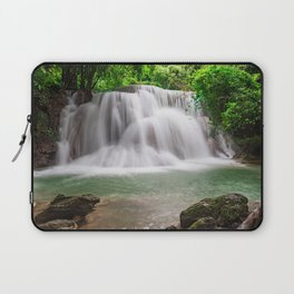 waterfall evening rainforest Thailand beautiful lake forest Laptop Sleeve