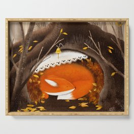Sleeping Fox, Hibernation Serving Tray