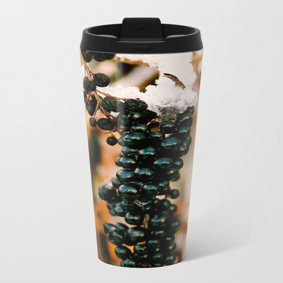 Berries & Snow Metal Travel Mug