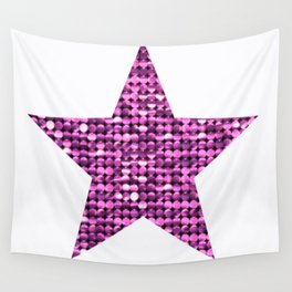 Sparkling Star,pink Wall Tapestry