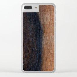Walnut veneer brown design of wood Clear iPhone Case
