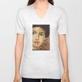 Detail of Woman Portrait. Mosaic art Unisex V-Neck