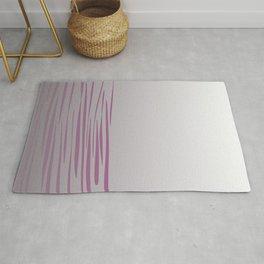 Exotic lines pink on grey Rug