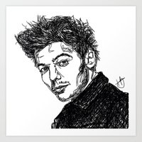 louis tomlinson Art Prints featuring Louis Tomlinson by Hollie B