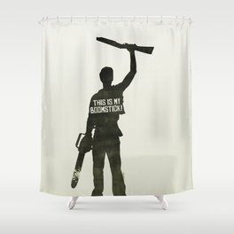 Boomstick! Shower Curtain
