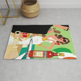 1970 Vintage Cordial Campari Italian Aperitif Advertisement Poster Rug
