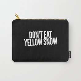Yellow Snow Carry-All Pouch