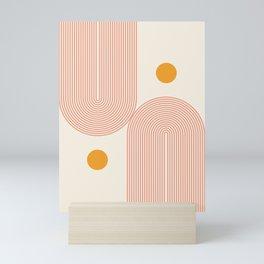 Abstraction_SUN_DOUBLE_LINE_POP_ART_Minimalism_001C Mini Art Print