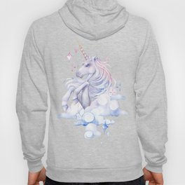 Watercolor unicorn in the sky Hoody
