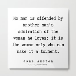 87    | Jane Austen Quotes | 190722 Metal Print