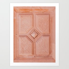Pink stone wall | Puglia Italy Europe | Cute stone wall frame pastel colored | Cute Brick symmetry   Art Print