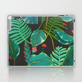 dark tropical red flowers Laptop & iPad Skin