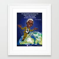 mandela Framed Art Prints featuring Mandela by Studio Sanda