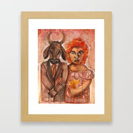 The Marriage of the Bull Framed Art Print