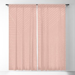 Lines (Blush Pink) Blackout Curtain