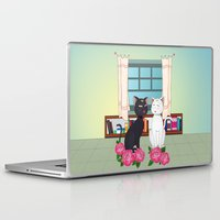 anime Laptop & iPad Skins featuring Anime Cats by MyimagesArt