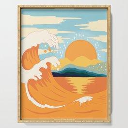 Orange wave Serving Tray
