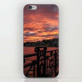 Romantic Sunset View iPhone Skin