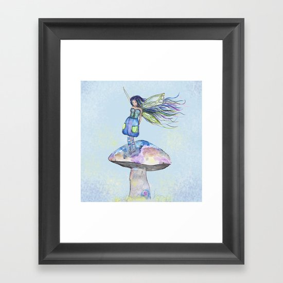 Tiny Fairy of a Mushroom by Washington Artist Heather Saulsbury  by creativelyhappy