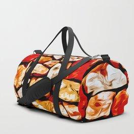 rock stone wall pattern vector art Duffle Bag