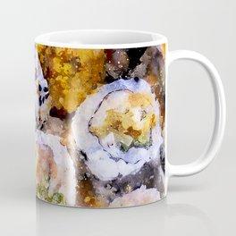 Sushi board - watercolor Coffee Mug