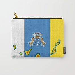 Canary Islands Flag with Map of the Canary Islands Islas Canarias Carry-All Pouch