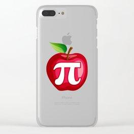 Apple Pi Cute Math design Clear iPhone Case
