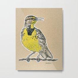 State Bird Series: Montana - Western Meadowlark Metal Print