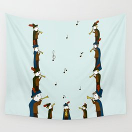 Eleven Pipers Piping  Wall Tapestry