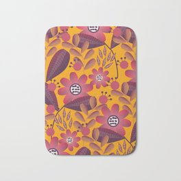 Floral spring fantasy in bright colors Bath Mat